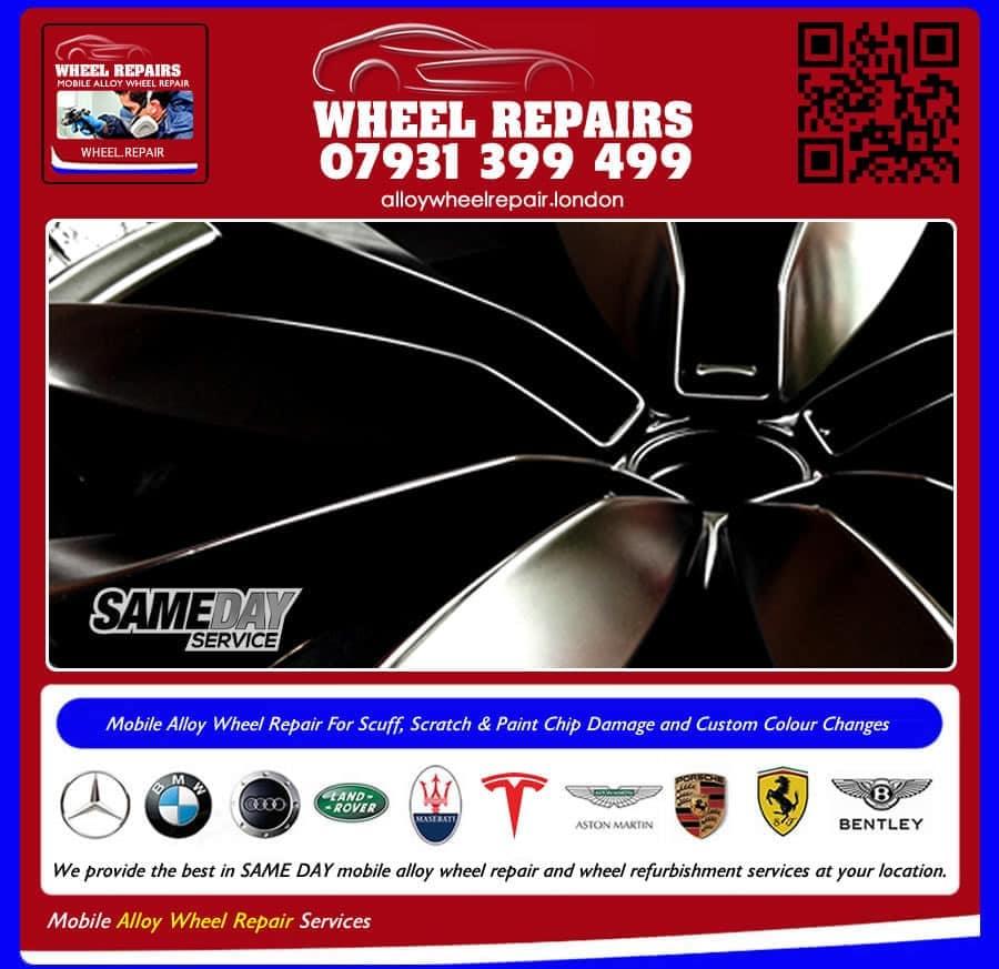 painting black alloy wheels Clapham SW4